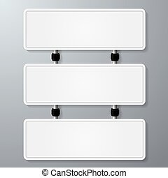 empty sign paper - empty white sign vector for your text