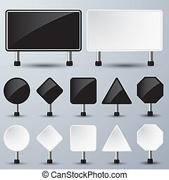 empty sign paper - vector illustration of black and white...