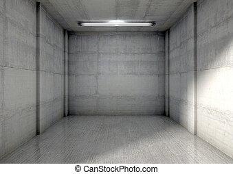 Empty Single Garage