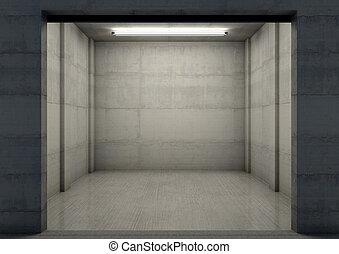 Empty Single Garage Night