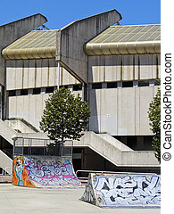 Empty Skate Park in Donostia - San Sebastian