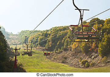 Empty ski lift