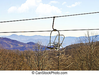 Empty Ski Lift Chair