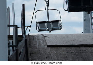 empty ski lift during the summer
