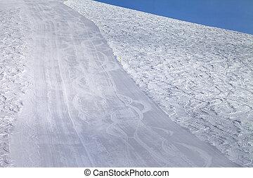 Empty ski slope. Caucasus Mountains. Georgia, ski resort...
