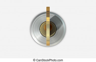 Empty Slot With Key - A dead bolt lock shield with a key...