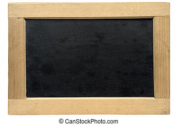 Empty Small Chalkboard with Clipping Path