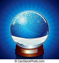 Empty Snow Globe - Classic Snow Globe - vector illustration...