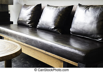 Empty sofa in living room interior