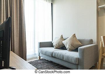 empty sofa interior decoration in room