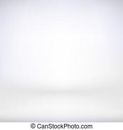 Empty soft white interior. Vector illustration