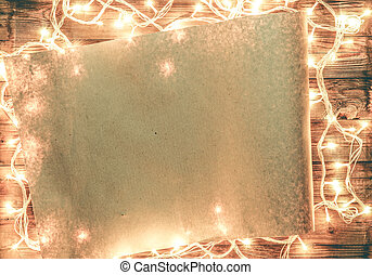 Empty space for Christmas compliments