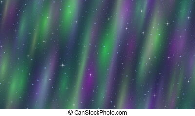 Empty Space, Northern Lights, Seamless Loop - Fullhd...