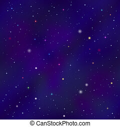 Empty space, seamless - Space background seamless with dark ...