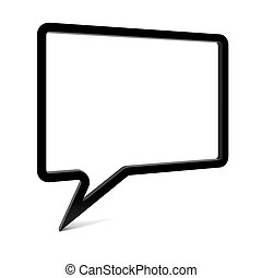Empty Speech Bubble - Empty speech bubble isolated on white...