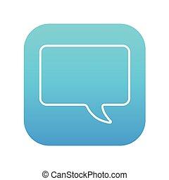 Empty speech bubble line icon.