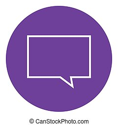 Empty speech square line icon.