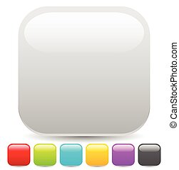 Empty square button or icon backgrounds with glossy effect