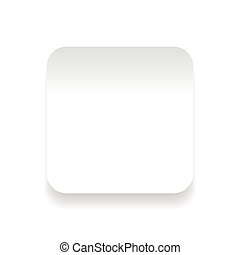 Empty square sticker button