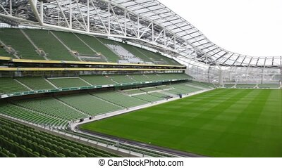 Empty stadium Aviva in Dublin, Ireland. - DUBLIN - JUNE 10: ...