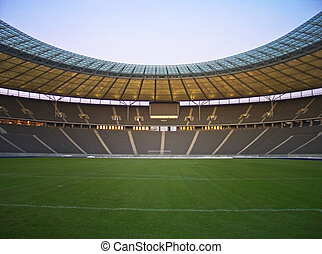 empty stadium - olympic stadium in berlin, germany