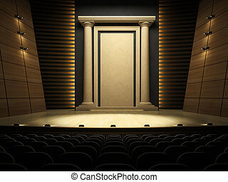 Empty stage in expectation of performance