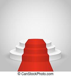 Empty stage podium