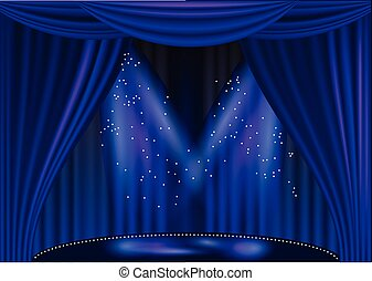 empty stage theater with light. 10 EPS