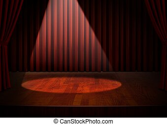 Empty Stage with Spotlight