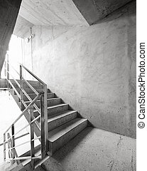 Empty stairway - Empty concrete building stairway...