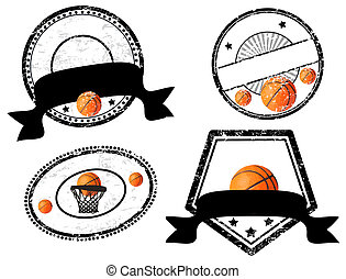 empty stamps, basketball theme