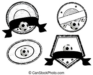 empty stamps, soccer theme