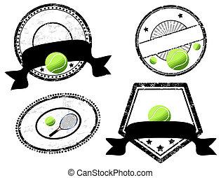 empty stamps, tennis theme
