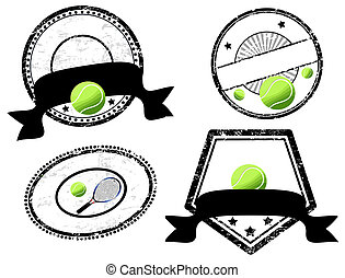 empty stamps, tennis theme