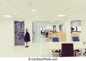 empty startup busines office interior