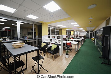 empty  startup office interior