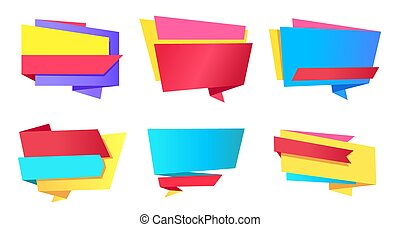 Empty Stickers Place for Text Vector Illustration