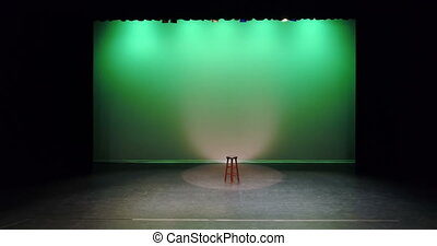 Empty stool kept on the stage 4k - Empty stool kept on the...