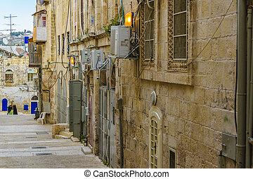 Empty Street at Old Jerusalem