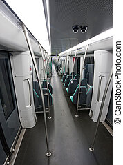 Empty subway - An empty subway car, seen from a high angle