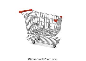 empty supermarket cart