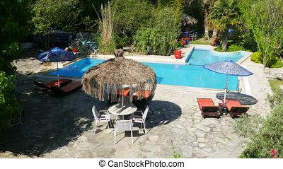 """Empty swimming pool, holiday resort, travel destination"""