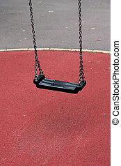 empty swing on a playground