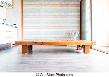 empty table in a room - korean style