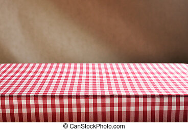 Empty table andand brown background