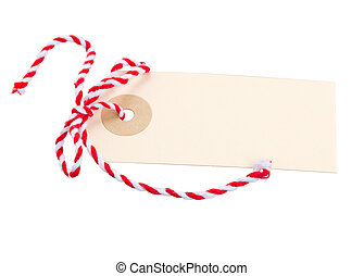 empty tag with red bow