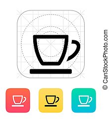 Empty tea cup icon.