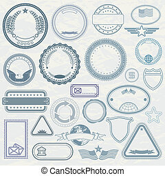 Empty Template of Rubber Stamps