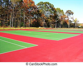 Tennis courts - Empty Tennis courts.