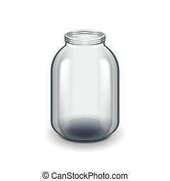 Empty three-liter glass jar isolated on white vector